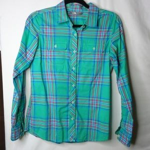 The North Face Green Plaid Baylyn LS Shirt